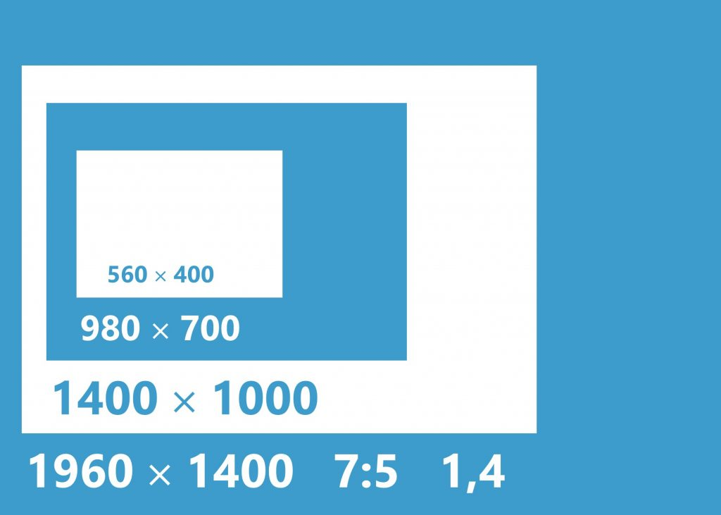 Formats 7x5 (ratio de 1,4)